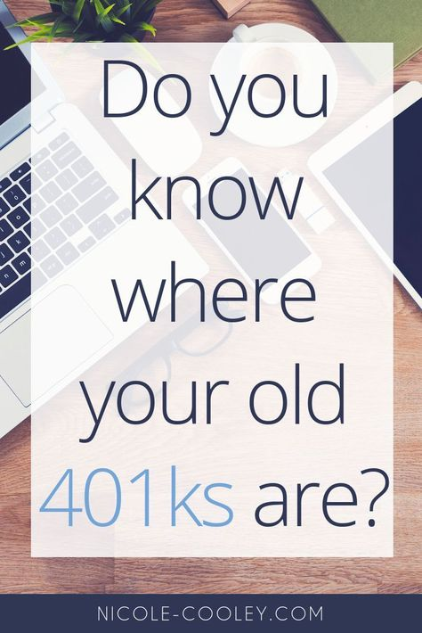 When you change jobs, it's up to YOU to keep track of your 401k investment account and the money in it. The number of accounts to manage can add up fast, but there is an easy way to deal with those old 401Ks: Roll them into an IRA (Individual Retirement Account). Money management tips for retirement. Personal finance tips for investing your money for retirement. #personalfinance #retirement
