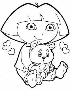Mais Desenhos Da Dora Aventureira Para Colorir Pintar Imprimir