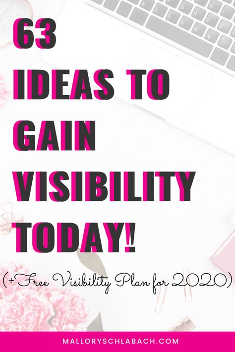 The ultimate visibility guide for your business! Show up, get seen, and find your ideal clients. Gain visibility this year and make big moves in your business. Marketing help for entrepreneurs and coaches. Grow your business. Business guide for entrepreneurs. #marketing #2020 #visibility