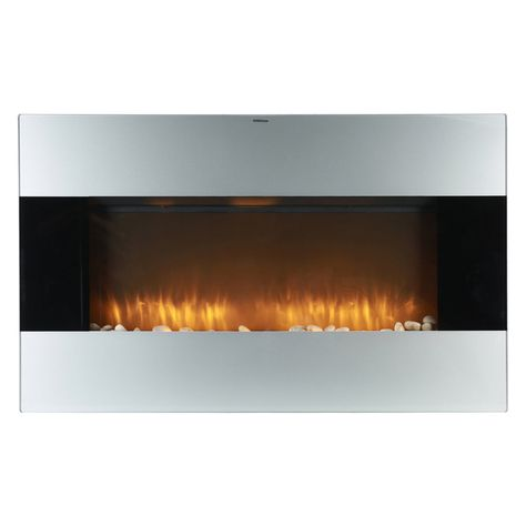 Caesar Fireplace 38 In Wall Mount Electric Fireplace With Remote