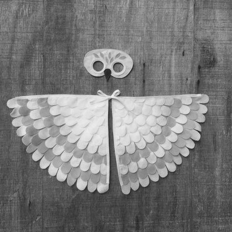 Magische Schneeeule Hedwig Inspiriert Kostum Maske Flugel