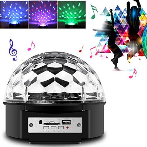 Besmall RGB LED USB Mp3 Discokugel Licht mit Fernbedienung f r - led leiste küche