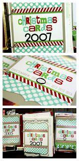 eighteen25: DIY Christmas card books
