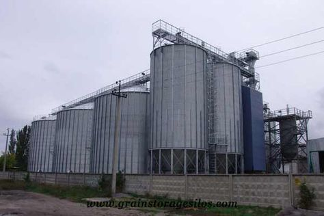 Flat Bottom Silos Are Widely Applied For Grain Storage Animal Feed Flour Starch Rice Milling Factory Grease Processi Silos Grain Storage Chemical Industry