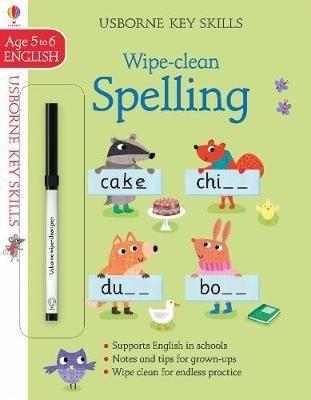 Wipe Clean Spelling 5 6 Paperback Softback Jane Bingham In 2020 Cleaning Wipes Usborne Books Clean Book