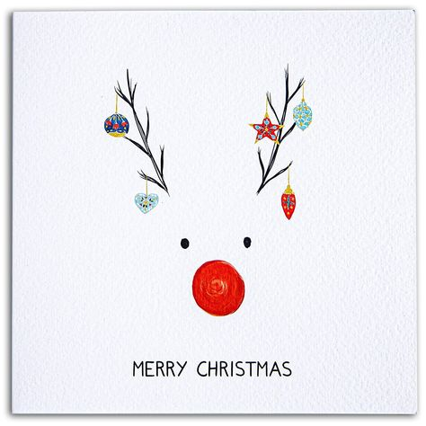 Premium Quality Christmas Card Artist Designed Thick seal Kraft envelope 150mm x 150mm card Made in the UK with 100% recycled paper We do not use plastic in our packaging. Thick High Quality Card QUALITY - Professionally printed on thick card with a silk coated finish SIZE - 155mm x 155mm blank inside so lots of space to add your own personal greeting ENVELOPE - (Included) high quality, white in colour, 125mm x 175mm PACKAGING - Made in UK on 100% recycled paper (eco-friendly No plastic used) PR Rudolph Christmas, Christmas Design, Christmas Gifts To Make, Christmas Fun, Christmas Greeting Cards, Christmas Greetings, Christmas Trivia Games, No Plastic, Card Making