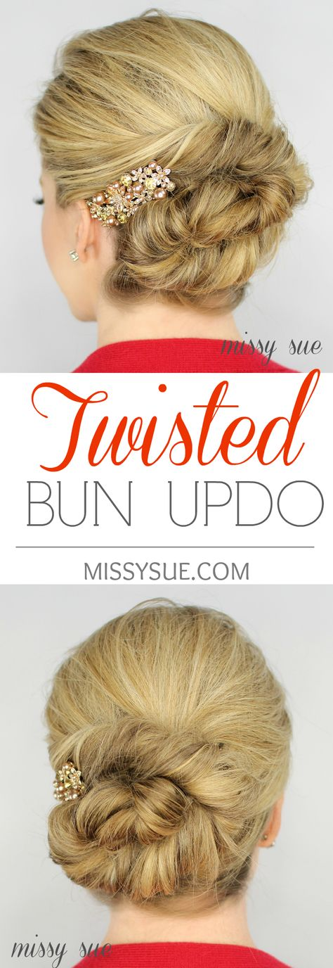 Video How To: Twisted Bun Updo