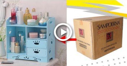 Diy Makeup Organizer Makeup Storage From Cardboard Diy Makeup
