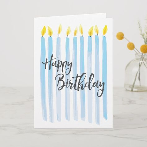 Shop Happy Birthday Candles - Personalize Card created by steelmoment. Personalize it with photos & text or purchase as is! Happy Birthday Posters, Happy Birthday Signs, Birthday Cards For Friends, Happy Birthday Candles, Cute Birthday Cards, Birthday Humorous, Birthday Sayings, Birthday Wishes, Sister Birthday