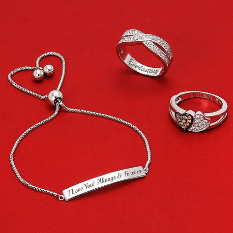 Hanv Jewelry Cuff This Present Life Porever Love Only You