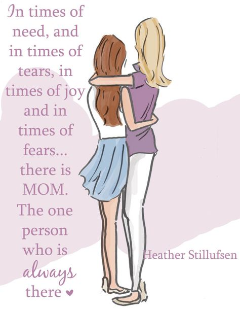 Cards for Mom - There is Always Mom Encouragement Cards Mother Daughter Art - Mom and Daughter Art