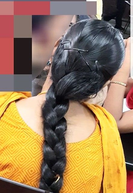 Awesome Clipped Braid In 2020 Indian Long Hair Braid Long Indian Hair Long Ponytail Hairstyles