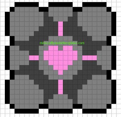 Companion Cube  Minecraft Pixel Art Templates Companion Cube