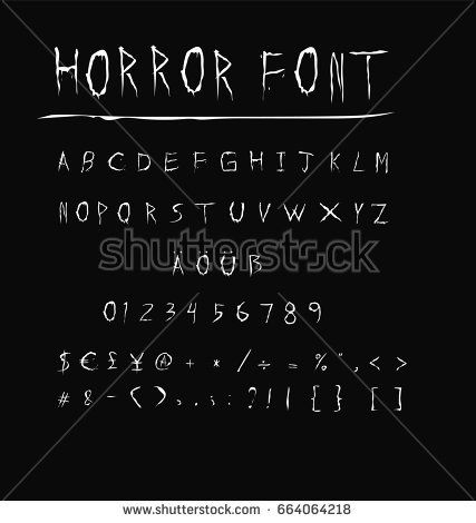 Scary Fonts Check More At Https Cleverhippo Org Scary Fonts