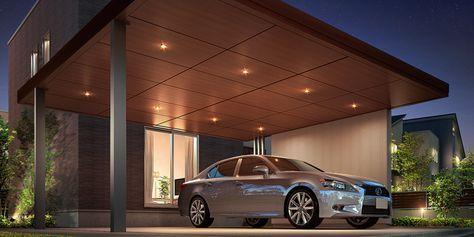 住宅と一体感のある駐車スペース 山梨 カーポートのデザイン カーポート カーポート おしゃれ