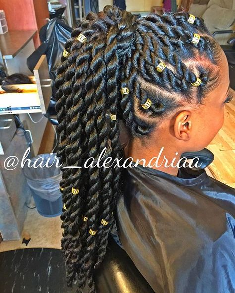 summer hair idea protective hairstyle @uNIquelyNI