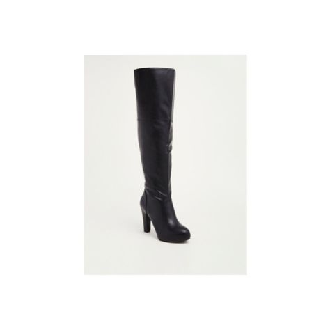 0cdb2a61e Torrid Wide Width Faux Leather Tall Boots - Wide Width & Wide Calf ($55) ❤  liked on Polyvore featuring shoes, boots, knee-high boots, high heel boots,  wide ...