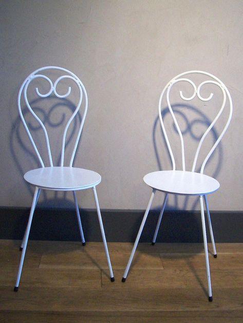 Jardinterrasse Petite Chaise Fer Paire Enfant Design Forgé Ancien OPkwTZuiX
