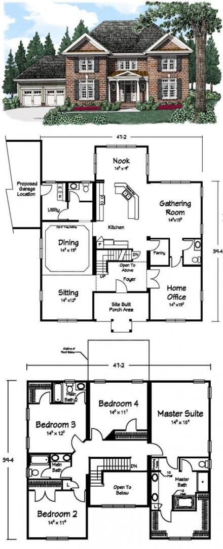 Trendy House Big Layout 34 Ideas In 2020 House Blueprints Sims House Plans Dream House Plans