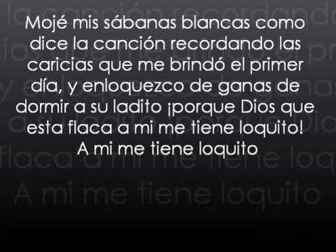 Jarabe De Palo La Flaca Letra Canciones Jarabe De Palo Y Letras