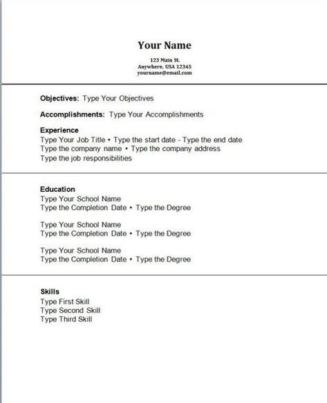 Summer Job Resume Template - http\/\/getresumetemplateinfo\/3798 - community relations resume