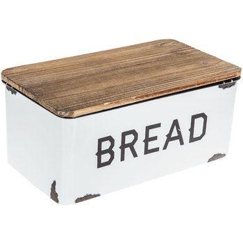 White Enamel Bread Box Farmhouse Bread Boxes Bread Storage