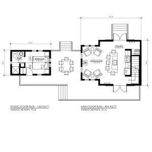 Saskatchewan 1016 Robinson Plans Floor Plans Tiny House Stairs Studio Floor Plans