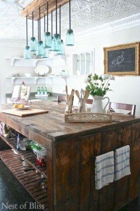 42 More Creative Diy Rustic Kitchen Decoration Idea For Small Space Homimu Com Rustic Kitchen Lighting Rustic Kitchen Decor Rustic Kitchen