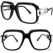 e42af1355b5d Oversize Clear Lens Glasses Gazelle Style BLACK FRAME RETRO 80s RAP DJ NERD  New Hip Hop