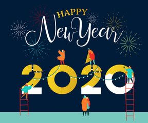 New Year 2020 Card Happy People Friends Together Affiliate Card Year Friends People Happy Ad New Year 2020 Happy People Happy New Year 2020
