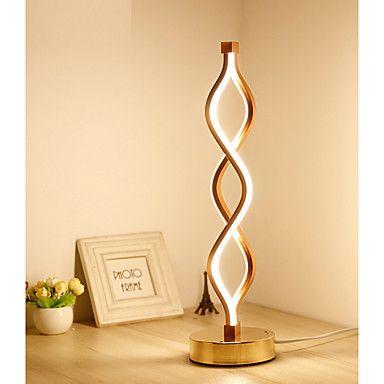 62 10 Table Lamp Desk Lamp New Design Decorative Simple Modern Contemporary Led Power Supply For Study Room Office Kids Room Aluminum 220 240v Whit Lamba Avizeler Ahsap Isciligi