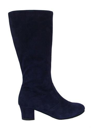 3e6b7f3e Nordic ShoePeople støvler ASTA23 suede mystic blue . Mørke blå højhælede  ruskind støvler