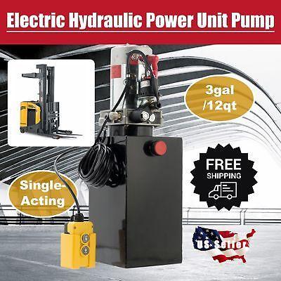 Ad Ebay 12 Quart Single Acting Hydraulic Dc 12v Pump Dump Trailer Unit Metal Reservoir In 2020 Hydraulic Pump Pump And Dump Gear Pump