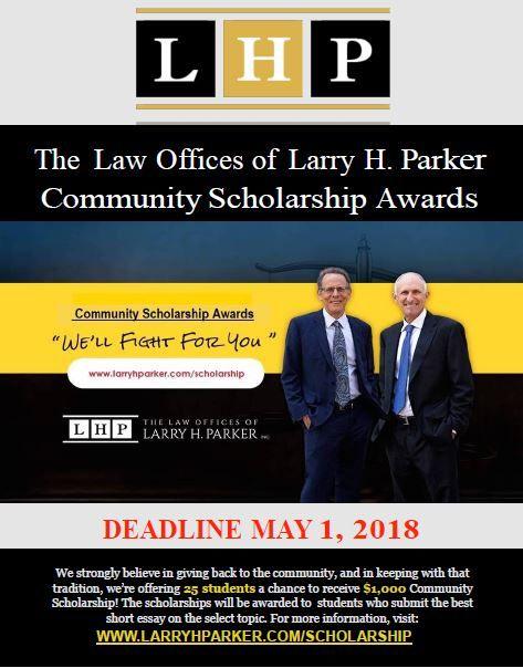 Scholarship | Helpful Information | Larry, Law, Student