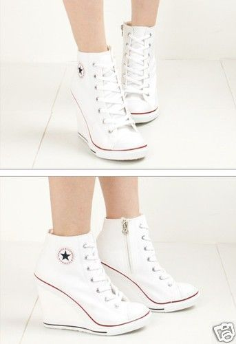 Astra (3 colors) | Sneaker heels, Converse heels, High top