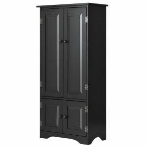 Costway Accent Black Storage Cabinet Adjustable Shelves Antique 2 Door Floor Cabinet Hw56627bk In 2020 Adjustable Shelving Accent Storage Cabinet Storage