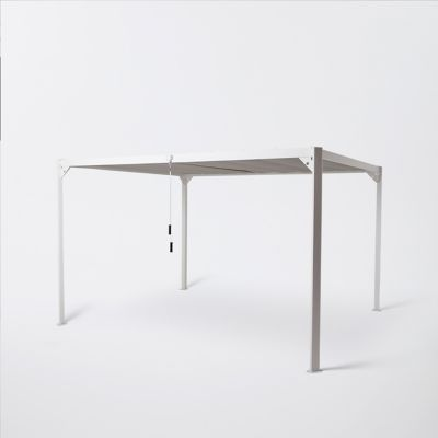 Tonnelle aluminum Blooma Beloye blanche 300 x 360 cm ...