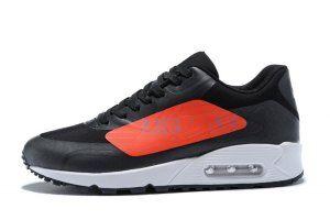 Mens Shoes Nike Air Max 90 Big Logo Black Bright Crimson