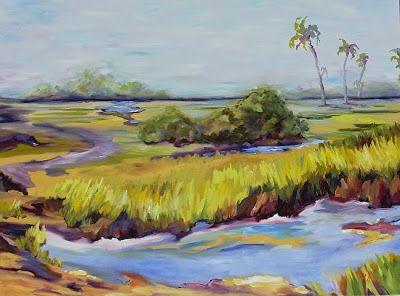 Where Art Lives Gallery Artists Group Blog Georgia Landscape Painting Savannah Tidal Marsh By Georgia Artist Landscape Paintings Painting Fantasy Paintings
