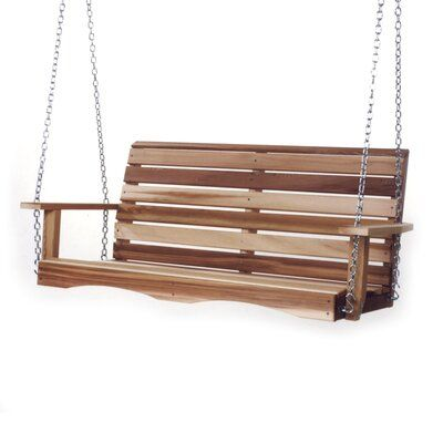 Union Rustic Ardoin Porch Swing Size 55 W X 23 D X 24 H Porch Swing Porch Swing Plans Hanging Porch Swing