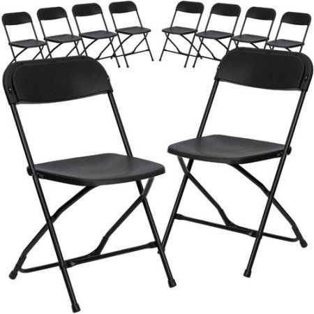 Flash Furniture 10 Pack Hercules Series 800 Lb Capacity Premium Plastic Folding Chair Multiple Colors Bl Plastic Folding Chairs Folding Chair Flash Furniture