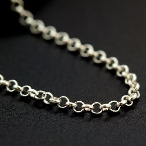 0.8mm Made in the USA Custom Finished Lengths or By The Foot Sterling Silver Rolo Chain