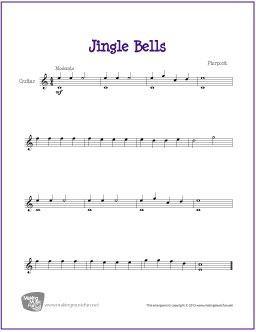 Jingle Bells Sheet Music Guitar Sheet Music Guitar For Beginners