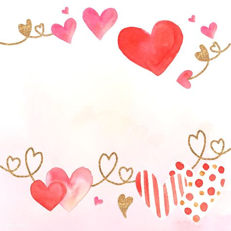 Valentine's Day background watercolor style vector | free image by rawpixel.com / Adj