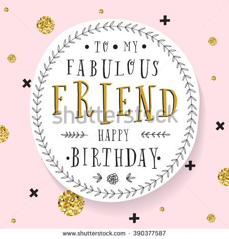 Hand Lettering Birthday Greeting Card Birthday Party
