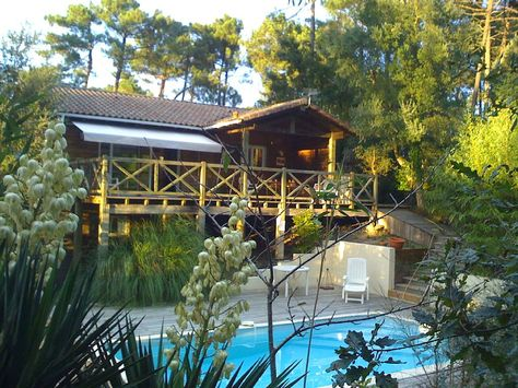 Location vacances villa Seignosse Villa vu de la piscine idées