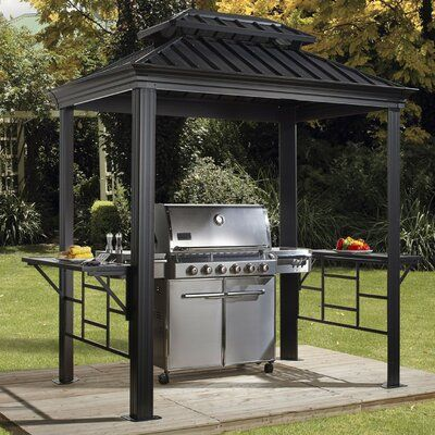 Wimbled 8 Ft W X 6 Ft D Aluminum Grill Gazebo Sol 72 Outdoor