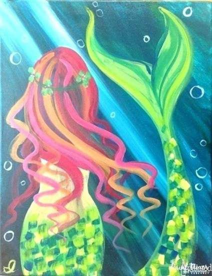 24 Ideas For Painting Ideas Disney Canvases Acrylics Kids Canvas Painting Canvas Painting Diy Mermaid Painting