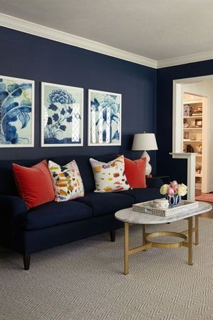 Mood Board When A Gray Living Room Has The Best Lighting Living Room Red Navy Living Rooms Blue Living Room Decor