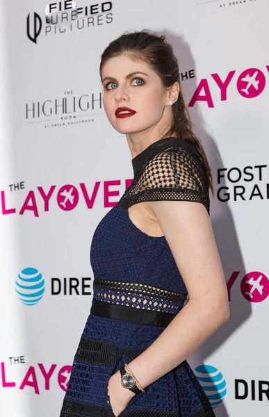 Alexandra Daddario arrives to the premiere of DIRECTV and Vertical Entertainment's 'The Layover.'